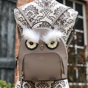 KATE SPADE LEATHER OWL TOMI STAR BRIGHT BACKPACK
